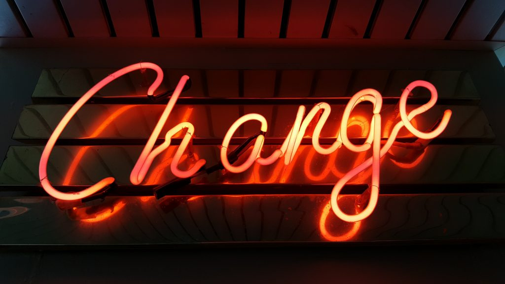 The word 'change'
