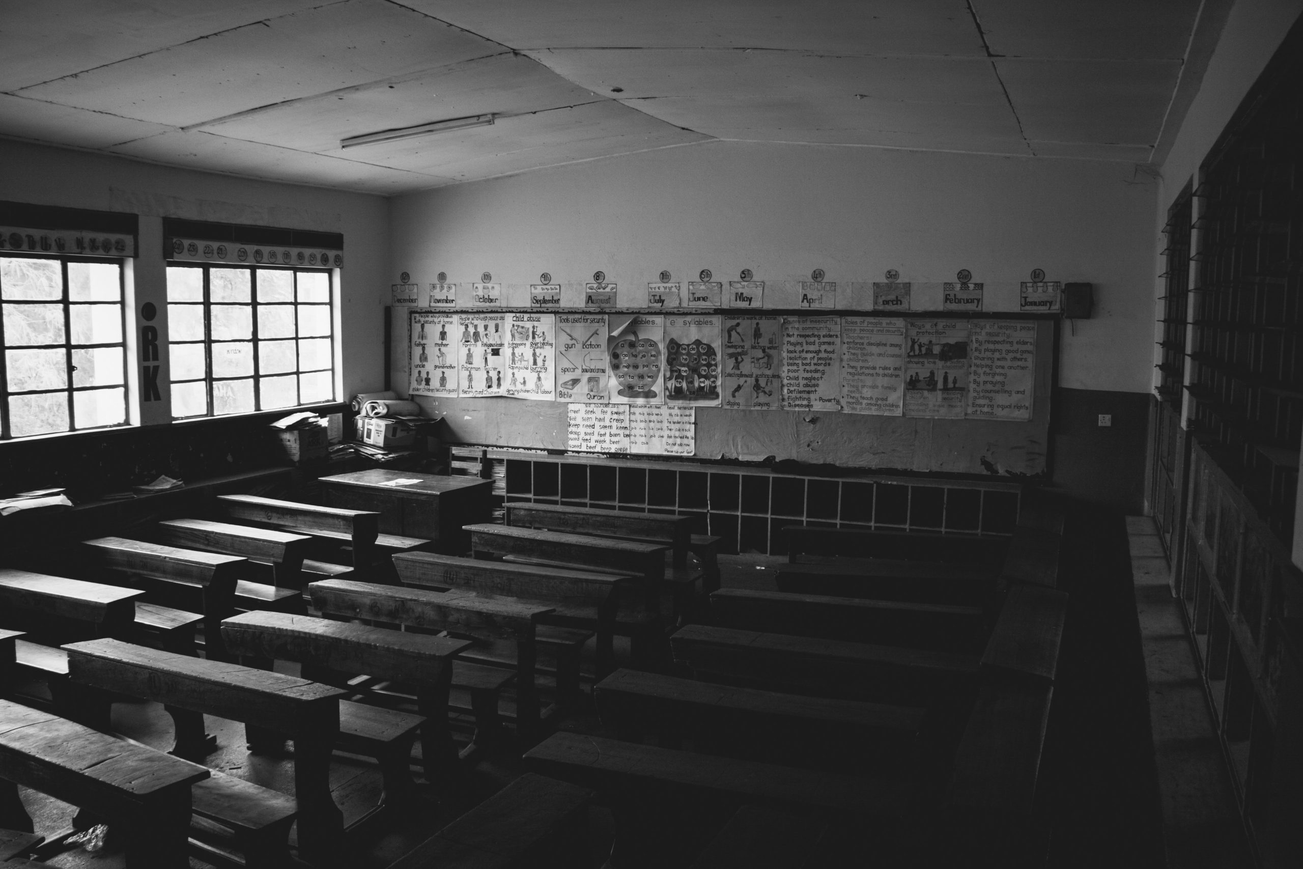 An empty school room